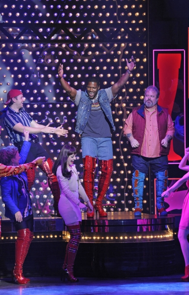 LIVE!'s Michael Strahan Backstage & Onstage In KINKY BOOTS