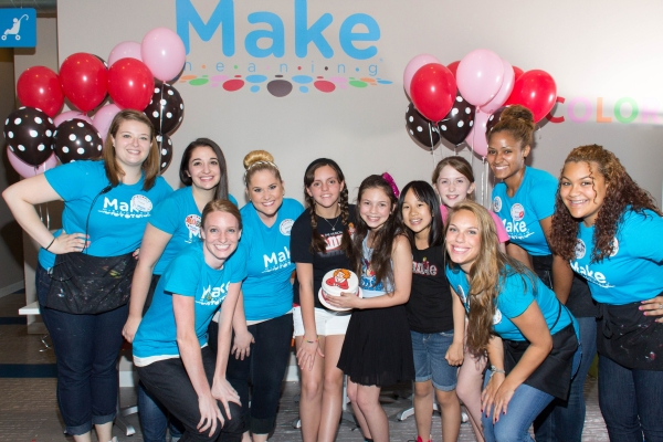 Georgi James, Madi Rae DiPietro, Junah Jang, Jaidyn Young and the staff of Make Meaning
