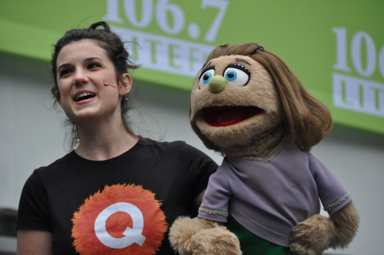 High Res Veronica Kuehn and Kate Monster