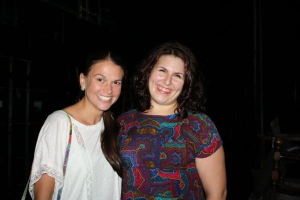 Sutton Foster and Florrie Bagel