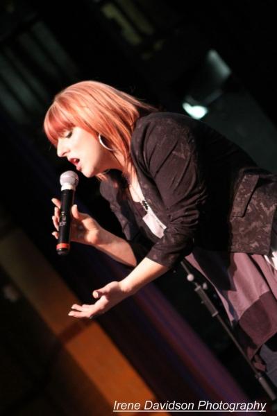 Katie Wilcoxson during rehearsal