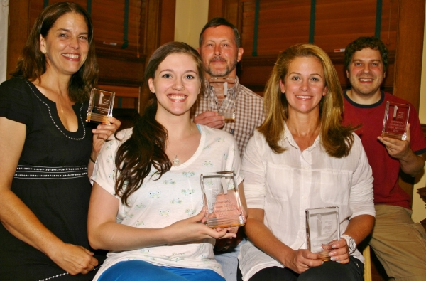 back row: Lucy Babbitt (Stratford), John Bachelder (Milford), Jim Buffone (Milford); front row id: Alisson Wood (Stratford), Lillian Garcia (Woodbridge)