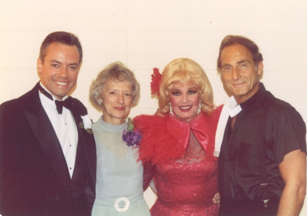 Ross Petty as Billy Crocker, Ross Petty''s mother - Violet, Ginger Rogers as Reno Sweeney, and Sid Caesar as Moonface Martin.