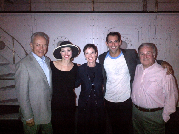 Ross Petty, Rachel York (Reno Sweeney), Karen Kain, Josh Franklin (Billy Crocker)  & Fred Applegate (Moonface Martin).