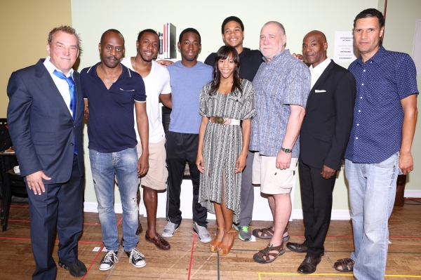 Director Des McAnuff, K. Todd Freeman, Anthony Gaskins, Jeremy Tardy, Ray Fisher, Nikki M. James, Richard Masur, John Earl Jelks and Playwright Will Power