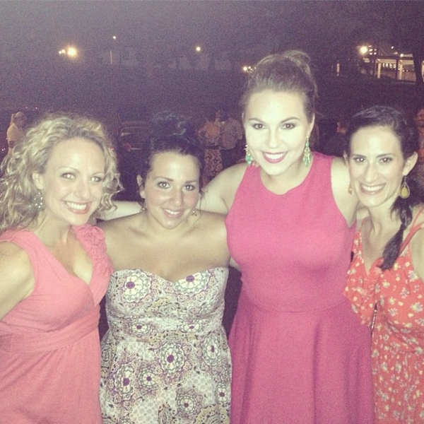 The ladies hate to say goodbye: April Strelinger, Katie Sarno, Kate McMillan and Jennifer Diamond