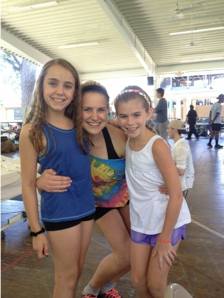 Francesca Ferrari with Lilly Kanterman (Young Cosette) and Lily McDonald (Young Eponine)