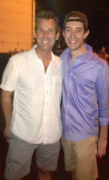 Hugh Panaro and Connor Deane post last show - Hugh shaved off his beard!