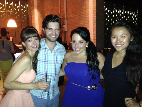 Katie Travis, Russell McCook, Katie Sarno and Dorcas Leung celebrating opening night