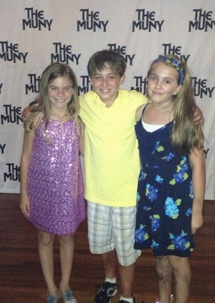 The kids: Lily McDonald, Jimmy Coogan and Lilly Kanterman