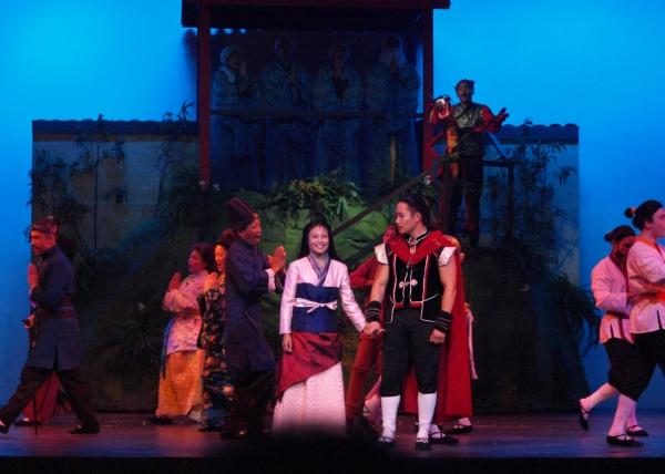 Jennifer Hubilla and Daniel J. Edwards at curtain call. Photo