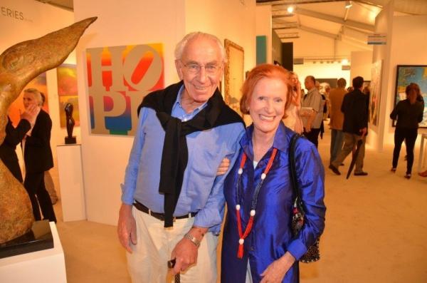 Richard Kaplan, artist Edwina Sandys