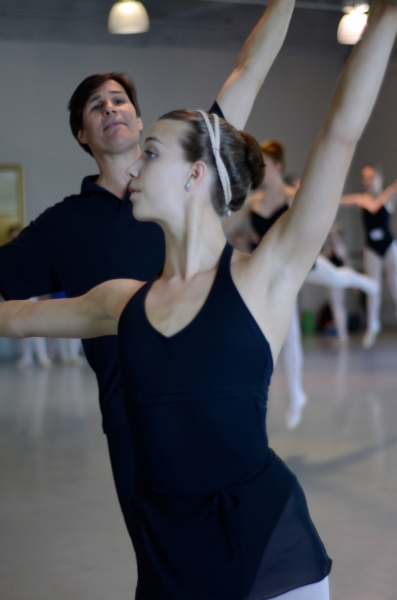 A student works with ARB Artistic Director Douglas Martin. Photo Credit: Theresa Wood.