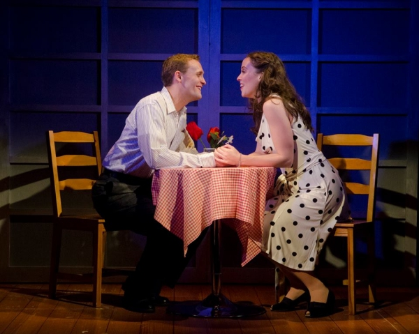 Frank (Danny Gardner) and Abby (Patricia Noonan) resolve their problems over a romantic date