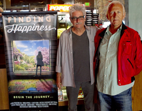 FINDING HAPPINESS director Ted Nicolau and producer Roberto Bessi join the festivities at the Del Oro theatre premiere of the film this last Saturday.