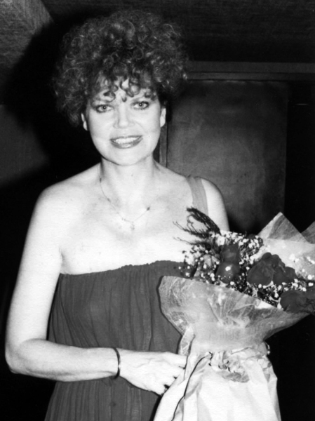 Eileen Brennan after a performance in ''A Coupla White Chicks Just Sitting Around Talking'' at the Astor Place Theatre in New York City. 1981