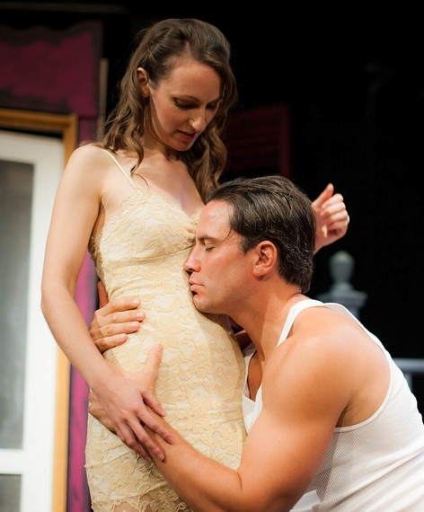 Laura Artesi as Stella and Tim Brown as Stanley. Photo by Alexs Ortynski. Photo