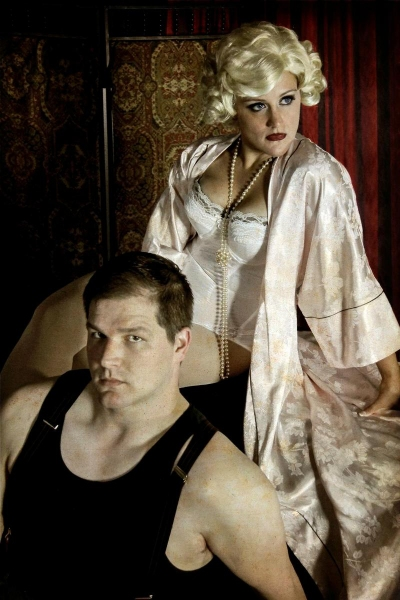 Troy Wageman as Burrs and Tori Spero as Queenie Photo