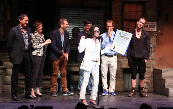 Producer Kevin McCollum, Producer Robyn Goodman, Composer Jeff Marx, Composer Robert  Photo