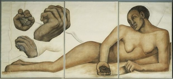 PHOTOS: Detroit Institute of Arts Examines Rare Drawings  of Diego Rivera's Detroit Industry Murals