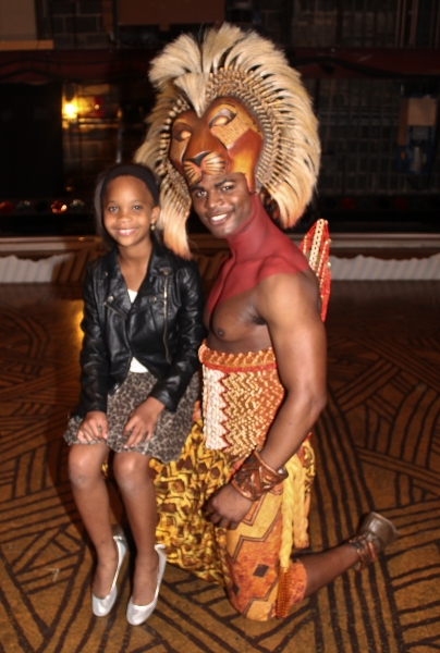 Quvenzhane Wallis and Andile Gumbi