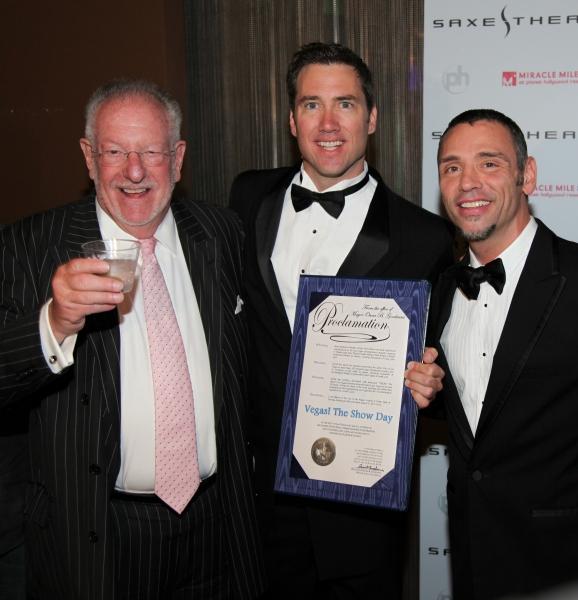 Mayor Oscar Goodman with David Saxe and Tiger Martina