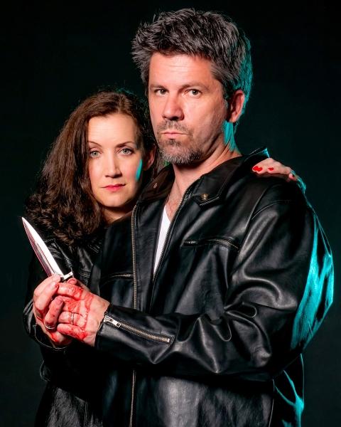 Gretchen McGinty (Lady Macbeth) and Christian Casper (Macbeth)