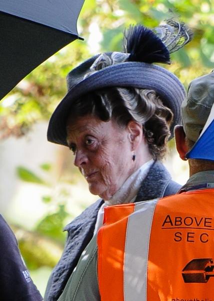 Mandatory Credit: Photo by Joan Wakeham/Rex / Rex USA (1630961ae)Dame Maggie Smith''Downton Abbey'' on set filming, Bampton, Oxfordshire, Britain - 06 Aug 2013