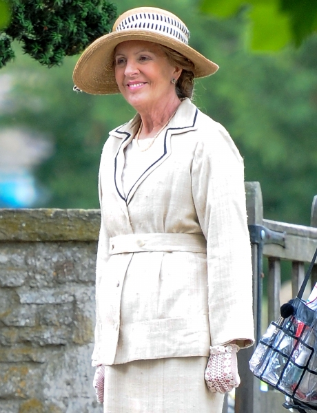 Mandatory Credit: Photo by Joan Wakeham/Rex / Rex USA (1630961ap)Penelope Wilton''Downton Abbey'' on set filming, Bampton, Oxfordshire, Britain - 06 Aug 2013