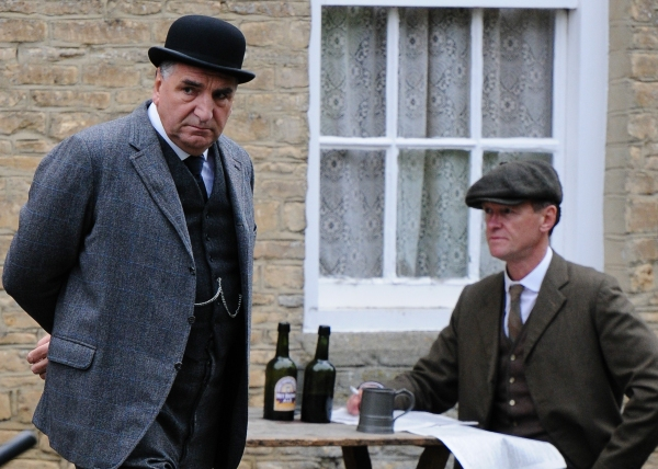 Mandatory Credit: Photo by Joan Wakeham/Rex / Rex USA (1630961k)Jim Carter''Downton Abbey'' on set filming, Bampton, Oxfordshire, Britain - 06 Aug 2013