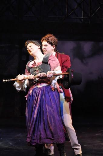 Angela Richardson (Fantine) and Peter Mill (Bamatabois)