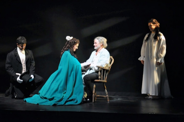 Ross Brown (Marius), Kathryn McKellar (Cosette), Ivan Rutherford (Valjean) and Angela Richardson (Fantine)