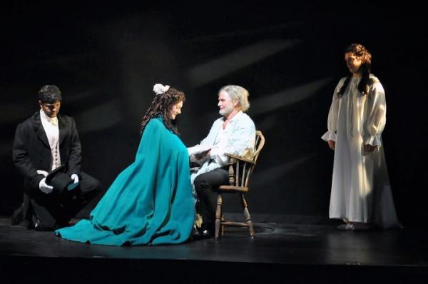 Ross Brown (Marius), Kathryn McKellar (Cosette), Ivan Rutherford (Valjean) and Angela Photo