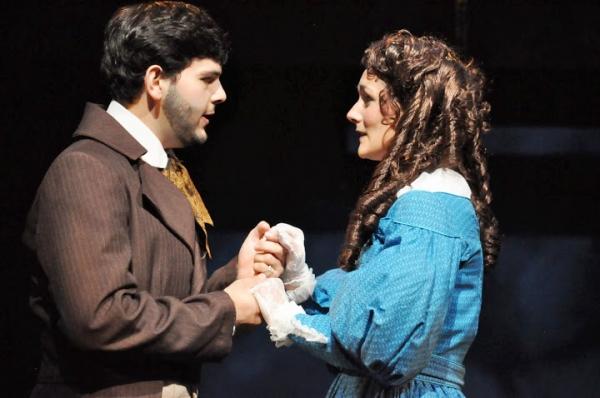 Ross Brown (Marius) and Kathryn McKellar (Cosette)  Photo