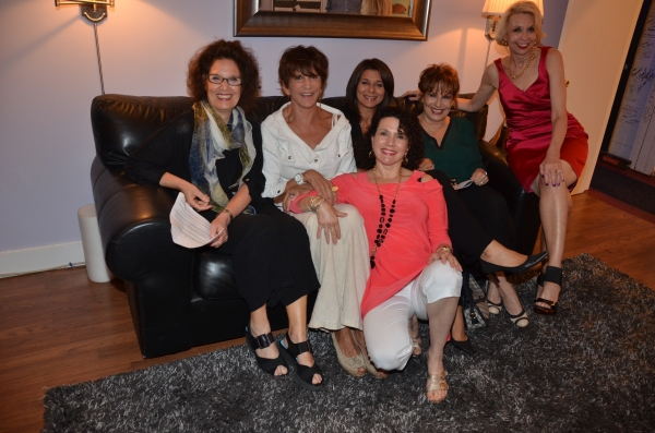 Leslie Avayzian, Mercedes Ruehl, Angela LaGreca, Joy Behar, Julie Halston and Susie Essman (front)