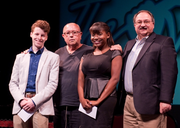 Austy Hicks with second place winner DeShana Wooden, Artistic Director Jesse Cline an Photo