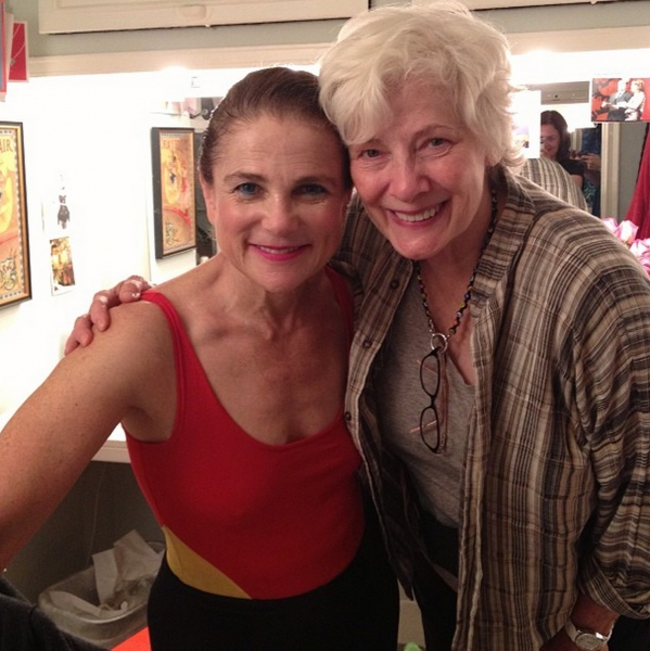 Photo Flash: Betty Buckley Visits Tovah Feldshuh in PIPPIN