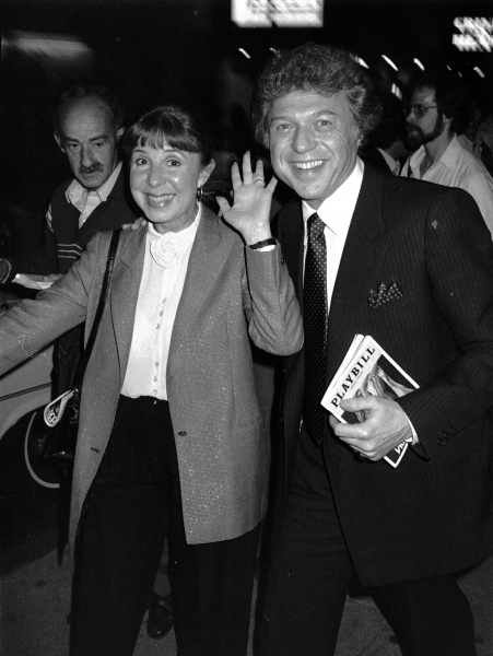 Steve Lawrence and Eydie Gorme attending a performance of ''Dreamgirls'' at the Imperial Theatre in New York City on June 1, 1984.
