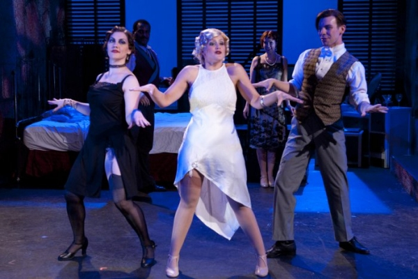 Zandi Carlson as Jackie, Tori Spero as Queenie, Bo Mellinger as Oscar with DeSean Hailey as Eddie and Arienne Baltz as Nadine