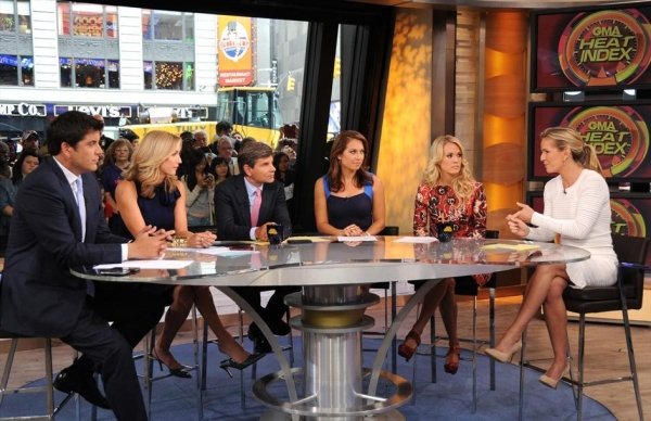 JOSH ELLIOTT, LARA SPENCER, GEORGE STEPHANOPOULOS, GINGER ZEE, CARRIE UNDERWOOD, DR. JENNIFER ASHTON