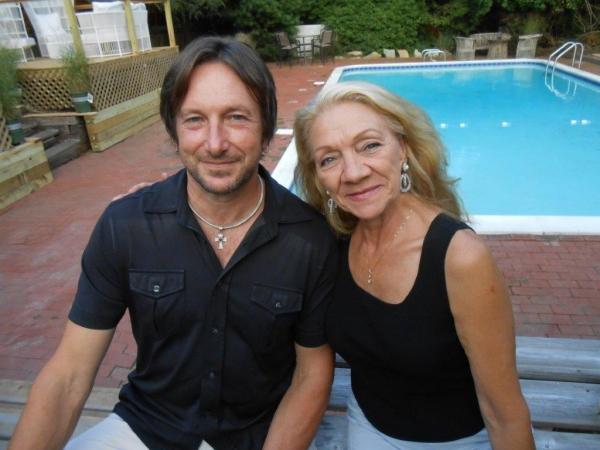 Artist Jeff Muhs,  and Frances DeLoache