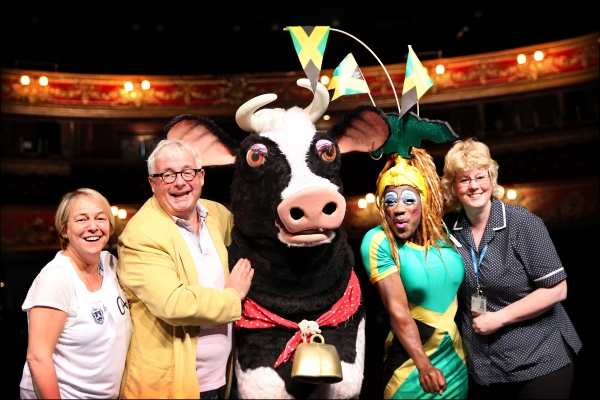 From left Susie McKenna Christopher Biggins Buttercup Kat B Carolyne Barber St Joseph Photo
