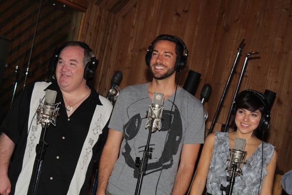 Blake Hammond, Zachary Levi and Krysta Rodriguez