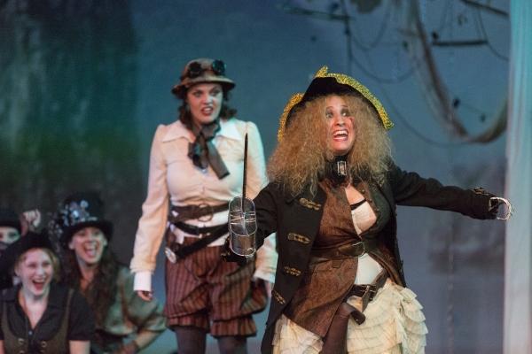 Kameron Brown as Peter Pan, Shea-Mikal Green as Smee and Caitlyn Joy as Captain Hook