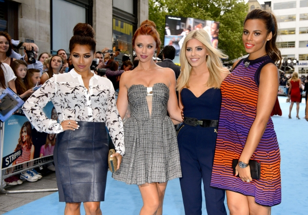 Mandatory Credit: Photo by REX USA/Jonathan Hordle/Rex (1659179bi)The Saturdays - Vanessa White, Una Healy, Mollie King and Rochelle Humes''We''re the Millers'' film premiere, London, Britain - 14 Aug 2013