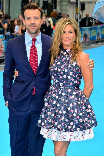 Mandatory Credit: Photo by REX USA/Nils Jorgensen/Rex (1659184j)Jason Sudeikis and Jennifer Aniston''We''re the Millers'' film premiere, London, Britain - 14 Aug 2013