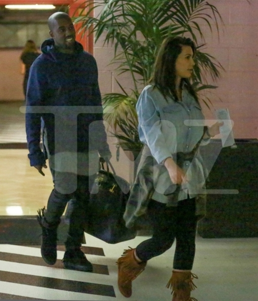 Kanye West and Kim Kardashian (Photo by TMZ)