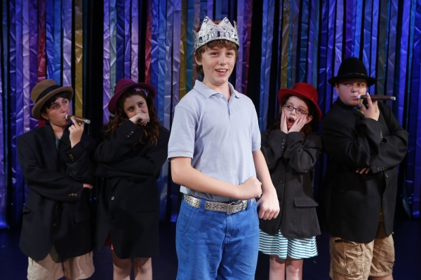 King Timmy (Cormac Cullinane) and his 'cabinet' (Zachary Brod, Anna Grace Rosenthal, Anna McCarthy and Jared Riley figure out how to deal with a problem.