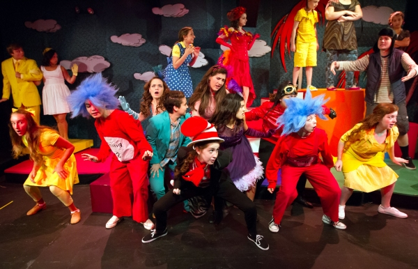 Cast of the Walnut Street Theatre for Kids production of Seussical Jr.