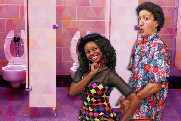 Shamira Clark as Lisa Turtle and Justin Cimino as Screech Powers